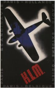 Vintage Travel Poster K.L.M Airlines